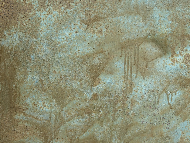 Alte metalloberflächenbeschaffenheit gemalt mit silber und braun färbt hintergrund