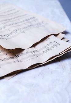 Alte musiknoten
