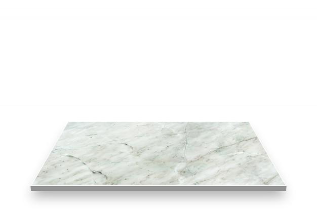 Alte musterperspektive des marmors lokalisiert auf weißem hintergrund