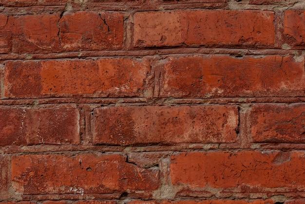 Alte rote backsteinmauer textur hintergrund nahaufnahme