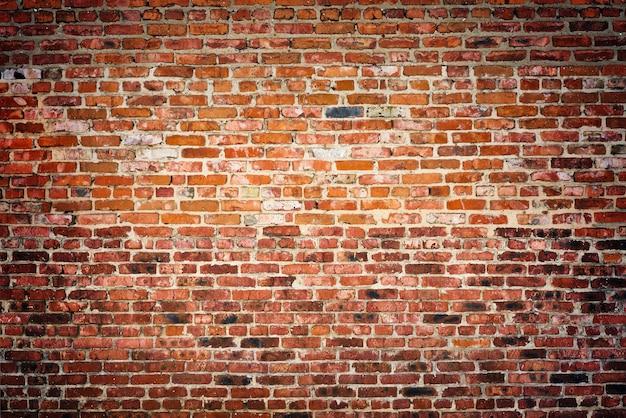 Alte rote backsteinmauer textur hintergrund