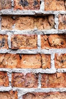 Alte rote backsteinmauer