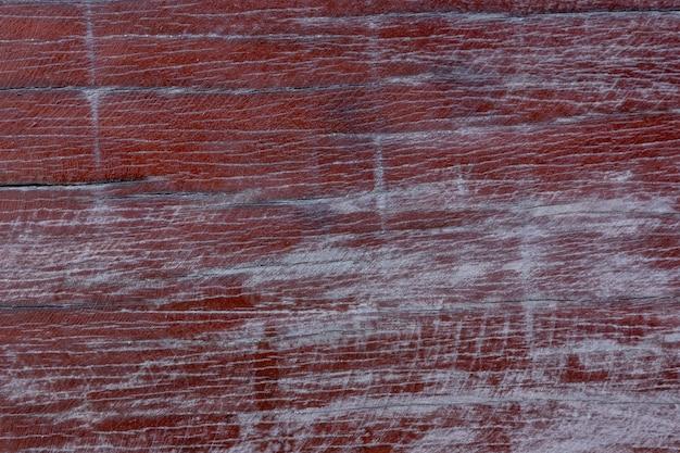 Alte rote hölzerne beschaffenheit und natürliches muster mit der oberfläche abgefressen