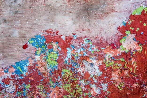 Alte rote schmutzwandoberfläche