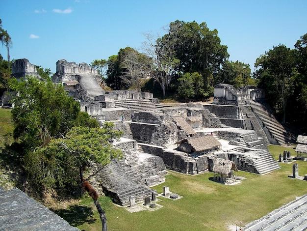 Alte ruinen in tikal, guatemala