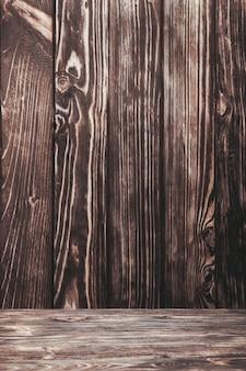 Alte schäbige naturholzwand und -boden für design