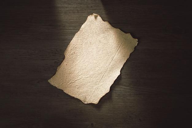 Alte seite aus papier