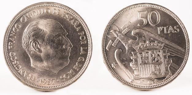 Alte spanische münze von 50 peseten