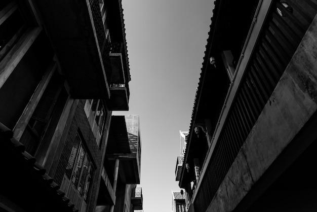 Alte stadtgebäude in bangkok