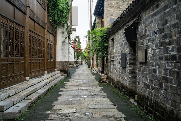 Alte stadtgebäude und straßen in nanjing, china