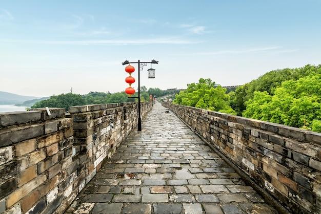Alte stadtmauern in nanjing, china
