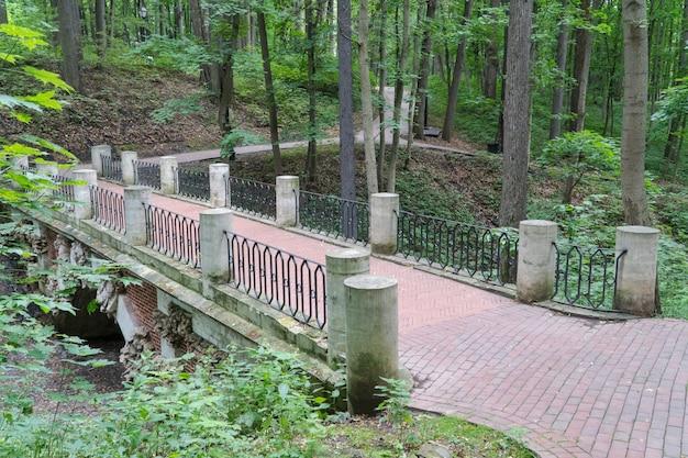 Alte steinbrücke im grünen park