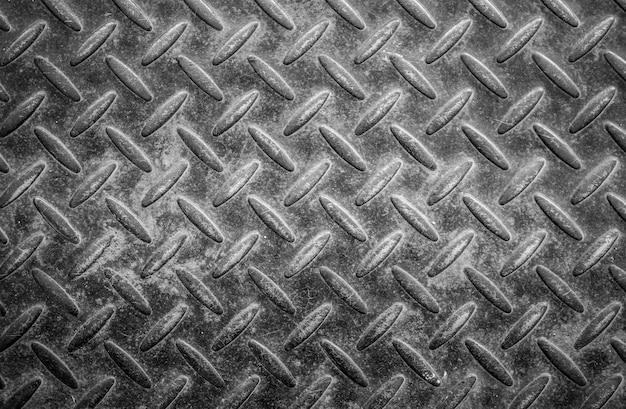 Alte und grunge diamantplatte oder metallstahlfußbodenhintergrund