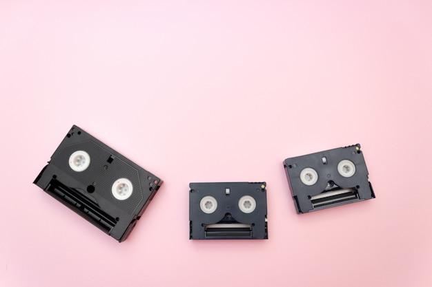 Alte vhs-videobänder, retro- konzept.