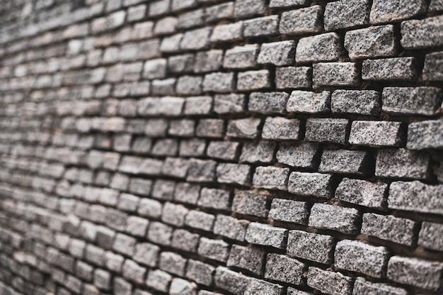 Alte vintage backsteinmauer textur der seitenansicht