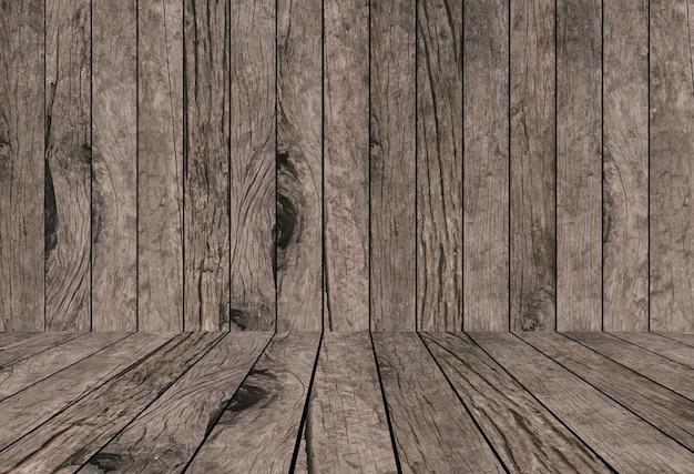 Alte vintage grungy hell beige braun holz hintergrund texturen mit tischplatte