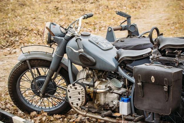 Alte vintage motorrad deutsche truppen