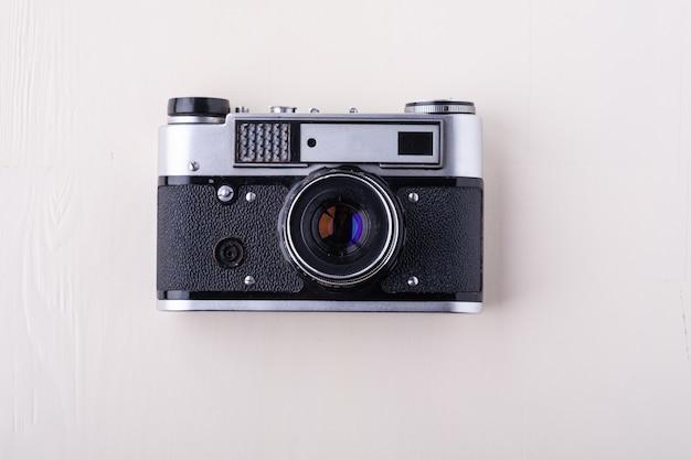 Alte vintage retro fotofilm entfernungsmesserkamera