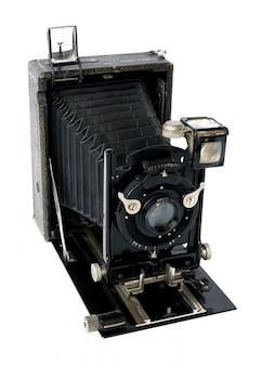Alte vintage schwarze kamera