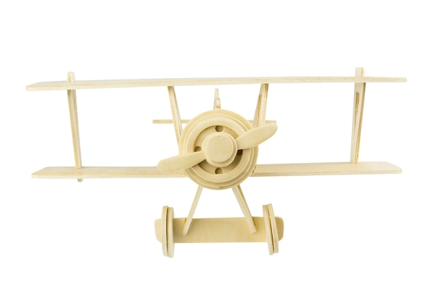 Alte vorbildliche flugzeuge der vorderansicht des holzes