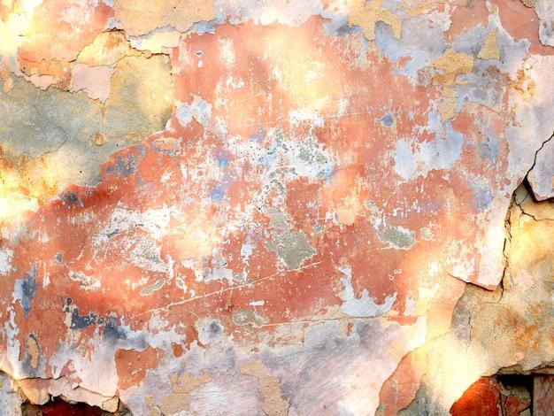 Alte wände von gebäuden, von gealterter beschaffenheit und von hintergrund