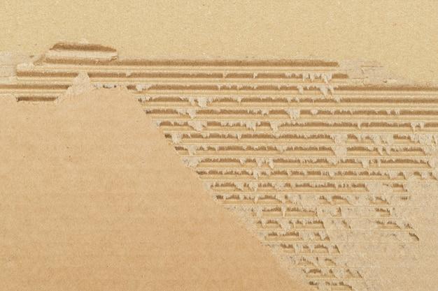 Alte zerrissene pappe papier textur hintergrund hautnah mit kopie raum