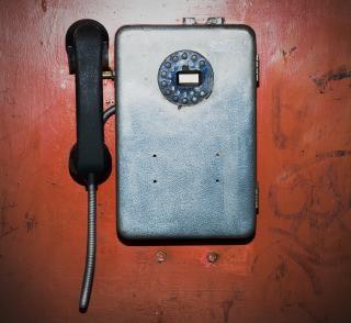 Alten telefon dunklen kommunikation