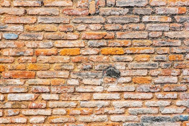 Alter backsteinmauerhintergrund, weinlesefilterbild