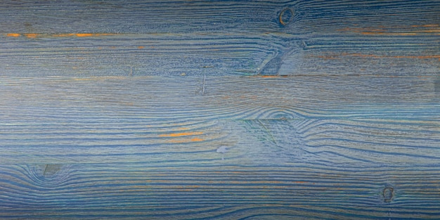 Alter hölzerner hintergrund mit horizontalen blauen brettern