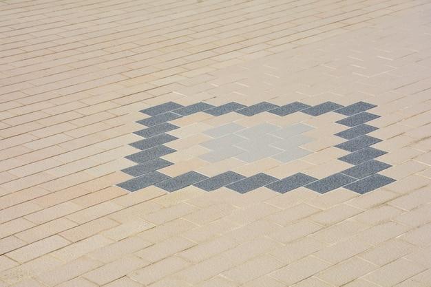 Alter keramischer ziegelsteinboden