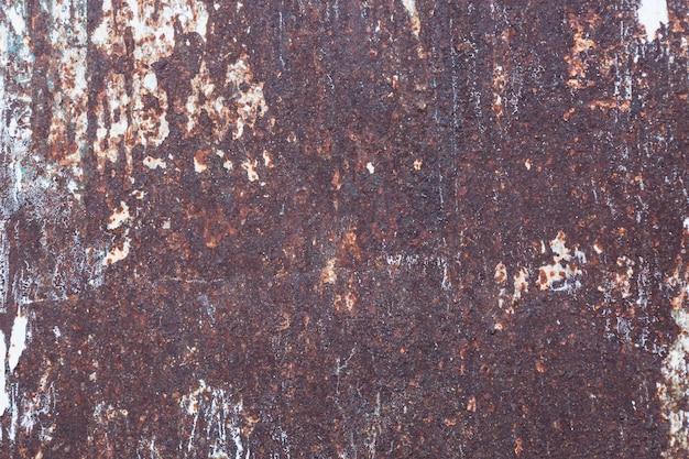 Alter rostiger metallischer gemalter auszug