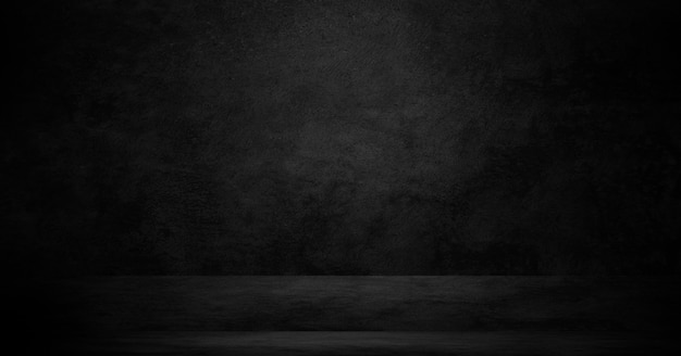 Alter schwarzer hintergrund. grunge textur. tafel, tafel, raumwand.