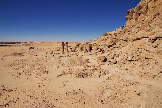 Alter tempel des pharaos in jebel barkal, sudan