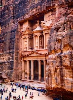 Alter tempel in petra, jordanien