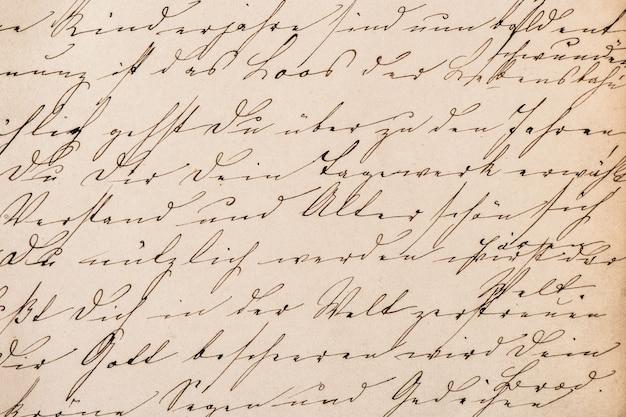 Alter undefinierter abstrakter handgeschriebener text. grunge vintage papier textur hintergrund