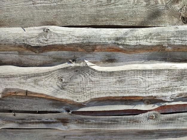 Alter verwitterter hölzerner fässer oder planken strukturierter hintergrund