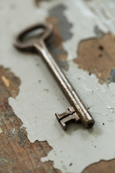 Alter, verzierter schlüssel