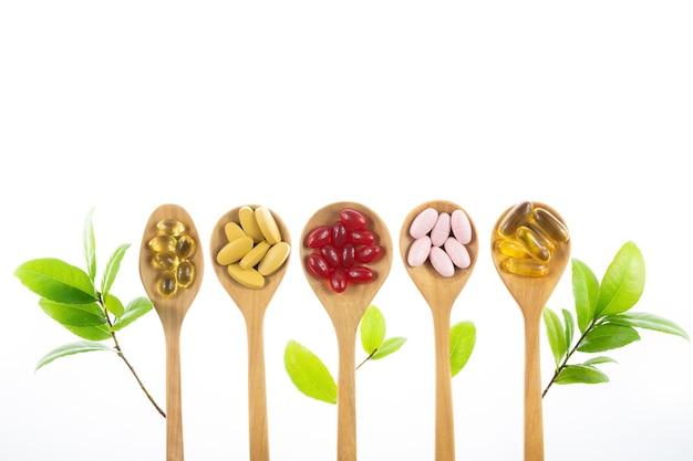 Alternative kräutermedizin, vitamin und nahrungsergänzungsmittel aus natürlichen