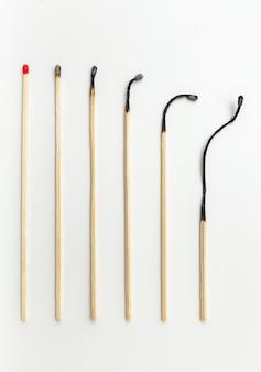 Alterungskonzept mit streichhölzern