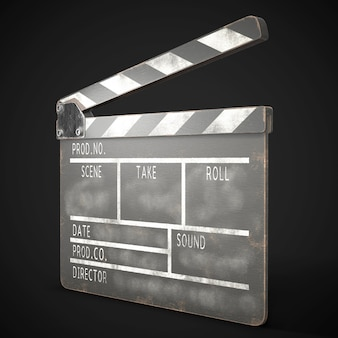 Altes 3d-rendering der klappe Premium Fotos