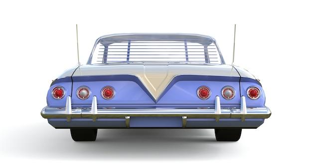 Altes amerikanisches auto in ausgezeichnetem zustand. 3d-rendering.
