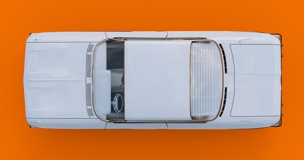 Altes amerikanisches auto in sehr gutem zustand. 3d-rendering
