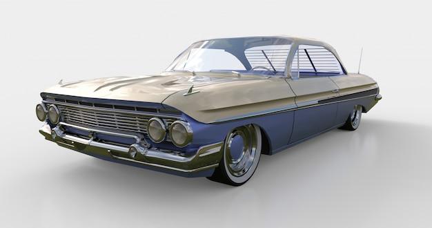 Altes amerikanisches auto in sehr gutem zustand. 3d-rendering.
