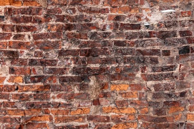 Altes backsteinmauernahaufnahmefoto. vintage textur