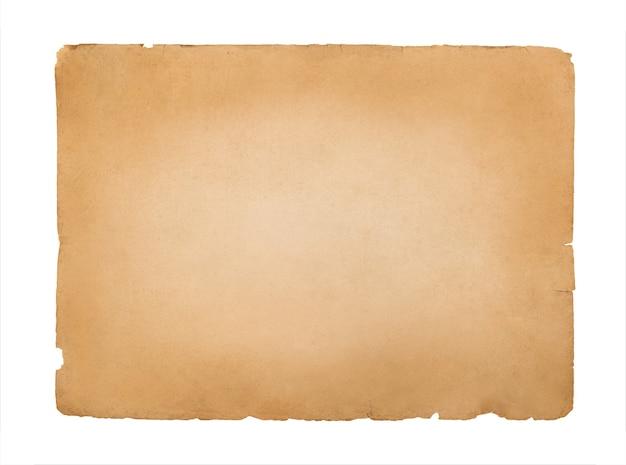 Altes blatt papier auf einem weißen hintergrund.
