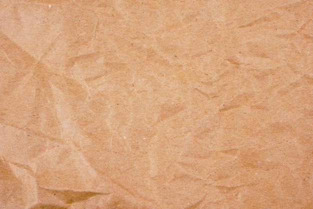 Altes braun des hintergrundes zerknitterte papierbeschaffenheit