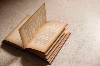 Altes Buch öffnen