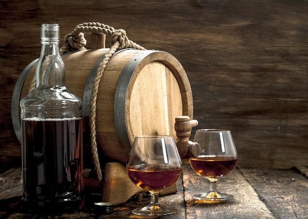 Altes fass mit französischem cognac