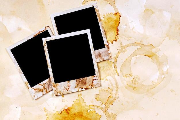 Altes fotoalbum mit polaroids