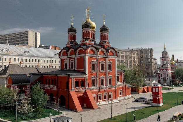 Altes gebäude im zentrum von moskau in russland